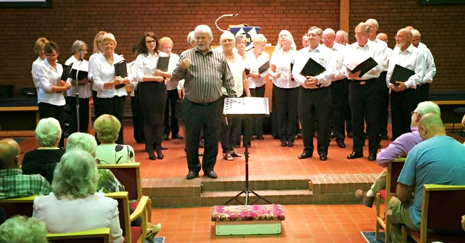 The Robins Singers in concert at Hazel Grove Methodist Church, August 2015