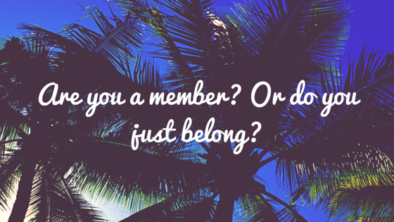 Are You A Member? Or Do You Just Belong?